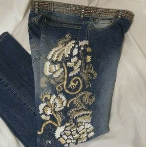Vanity Collection Embroidered Jeans Size 14